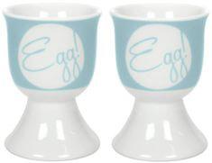 GUSTA Pohárek na vejce světle modrý Egg!