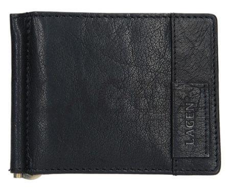 Lagen Pánska kožená peňaženka 9116 BLK