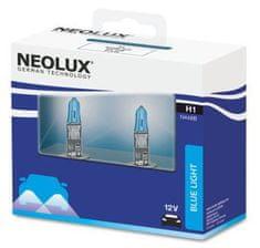 NEOLUX Žárovka typ H1, Blue Light 55W, 12V, P14.5s (sada 2 ks)