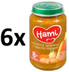 Hami 6 x masozeleninový příkrm Kořenová zelenina s telecím masem 200 g