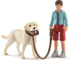 Schleich šetnja s labrador retriverom