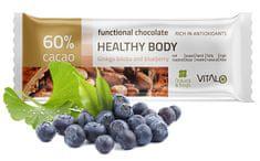 Vitalo Funkčné čokoláda Healthy Body - Gingo Biloba and Blueberry 25g