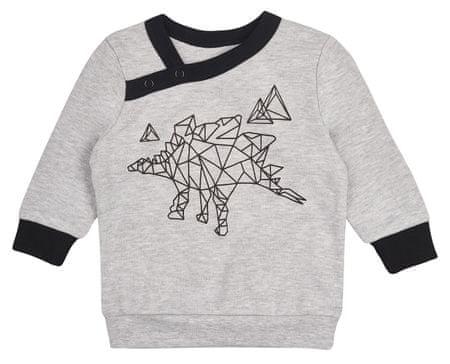 Garnamama fantovska majica z motivom dinozavra, 74, siva