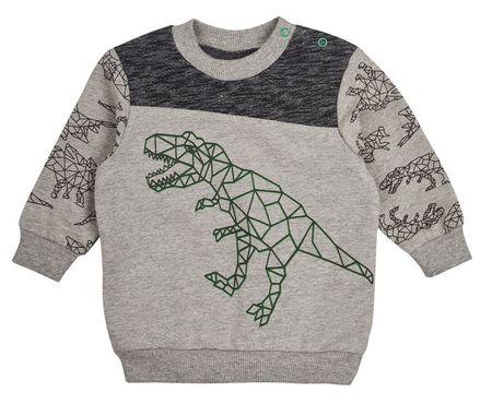 Garnamama fiú pulóver dinoszauruszos motívummal 74 szürke