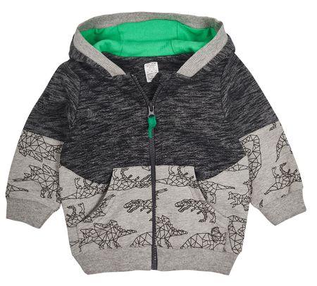 b77fb6d82 Garnamama chlapčenská mikina s kapucňou 74 sivá/zelená | MALL.SK
