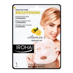 Bőrvilágosító hatású fátyolmaszk C-vitaminnal és hialuronsavval(Brightening Tissue Face Mask) 23 ml