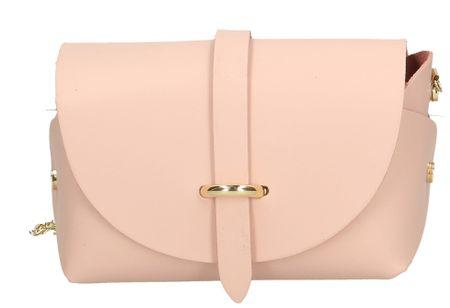 Arturo Vannini světle růžová crossbody kabelka