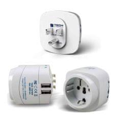 TravelBlue potovalni adapter za ZDA z dvema USB polnilcema