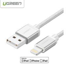 Ugreen lightning na USB kabel srebrni 0.5 m