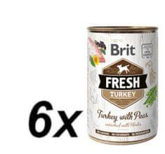 Brit Fresh Turkey with Peas 6x400g