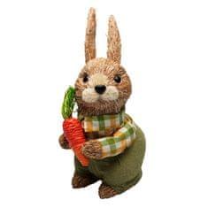 Seizis Zajac prírodný s mrkvou a zeleným oblekom, 26 cm