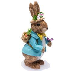 Seizis Zajac stojaci v modrom obleku, 32 cm