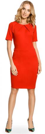 Made of Emotion ženska obleka, L, rdeča