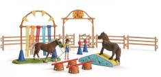 Schleich Trénink v agility pro poníky