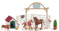 Schleich Hannah s konjima i psom Rubyem
