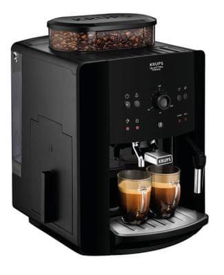 Krups EA811010 opcjonalna temperatura, opcjonalna grubość mielenia kawy