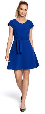 Made of Emotion ženska obleka M246, L, modra