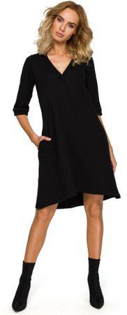 Made of Emotion ženska obleka M403, S, črna