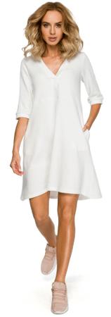 Made of Emotion ženska obleka M403, XL, bela