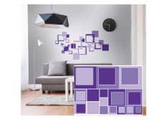 Dimex Dekoračné nálepky na stenu Štvorce fialové - 50 x 70 cm