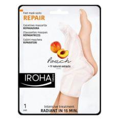Regeneračná maska na nohy a nechty s broskyňovým sérom ( Repair Foot Mask Socks Peach) 2 x 9 ml