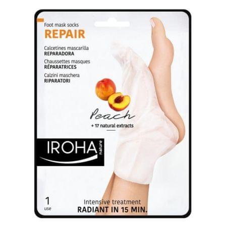 Regeneráló láb- és körömápoló maszk őszibarack szérummal (Repair Foot Mask Socks Peach) 2 x 9 ml