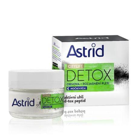Astrid Regeneráló élénkítő éjjeli krém Citylife Detox 50 ml