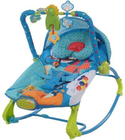 Sun Baby Leżaczek dziecięcy z wibracją i muzyką, Safari
