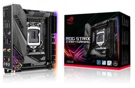 Asus osnovna plošča ROG STRIX Z390-I GAMING, DDR4, USB 3.1 Gen 2, Wi-Fi, LGA1151, Mini ITX