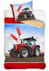 Carbotex Oboustranné dětské povlečení Kombajn a traktor