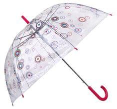 Blooming Brollies Damski przejrzyste podstawy Jasny parasol Circle z 12036