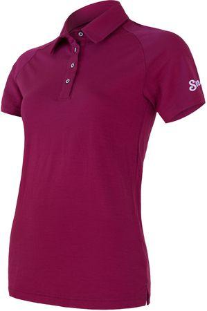 Sensor Merino Active Damska Koszulka Polo z krótkim rękawem, Lilla, S