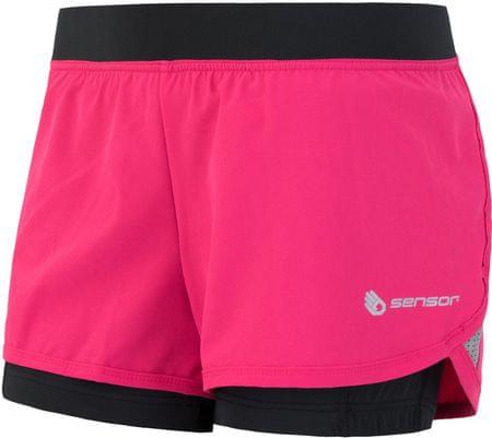 Sensor ženske kratke hlače Trail, rožnato črne, L