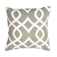 Vankúš, bavlna/vzor hnedá/sivá, 30x30, NOVEL TYP 2