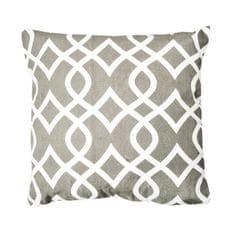 Vankúš, bavlna/vzor hnedá/sivá, 45x45, NOVEL TYP 1