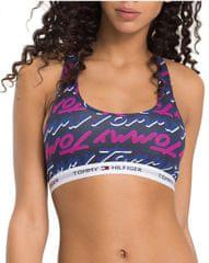 Tommy Hilfiger Biustonosz sportowy Ladies Cotton Icon ic Bralette Tommy Print Sodalite Sodalite Blue UW0UW01257-415