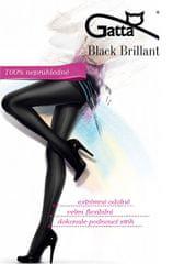 Gatta Čierne dámske pančuchové nohavice Black Brillant Nero