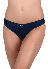 Tommy Hilfiger Dámske nohavičky Flag Core CTN Thong Navy Blazer UW0UW01051 -416