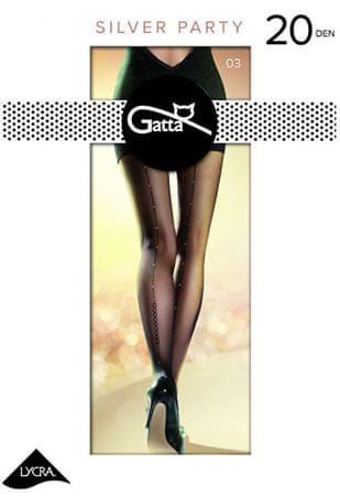 Gatta Dámské punčochové kalhoty Silver party 03 Nero (Velikost 3)