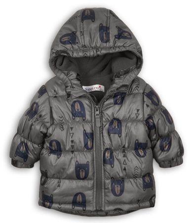 Minoti chlapecká zimní bunda Puffa Adventure 80 hnědá
