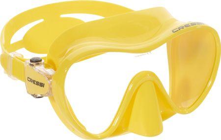 Cressi Maska F1 frameless, žlutá