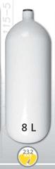 EUROCYLINDER fľaša oceľová 8 L priemer 171 mm 230 Bar