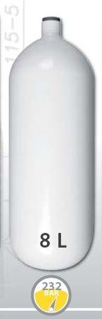 EUROCYLINDER Lahev ocelová 8 L průměr 171 mm 230 Bar