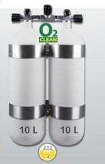"""EUROCYLINDER Lahev """"dvojče"""" 2 x 10 L 230 bar s manifoldem a obručemi"""