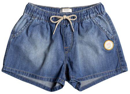 Roxy kratke hlače za djevojčice Honey Sunday Denim, 128, plave