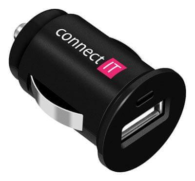 Connect IT InCarz nabíječka do auta 1xUSB 1A, černá CI-177
