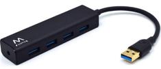 Ewent Ewent USB hub (čvorište) EW1136, 4 ulaza, USB 3.1, crno