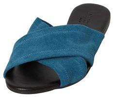 Pieces Dámské pantofle Marnie Suede Sandal Seaport