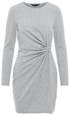 Vero Moda Dámské šaty Smia L/S Knot Dress D2-1 Light Grey Melange