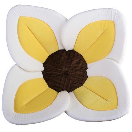 Little Tobi wkładka do kąpieli dla niemowląt Bloomingbath, żółty